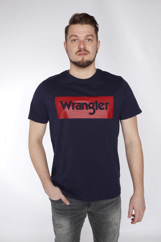 """WRANGLER Herren T-Shirt - """"SS logo tee navy"""""""