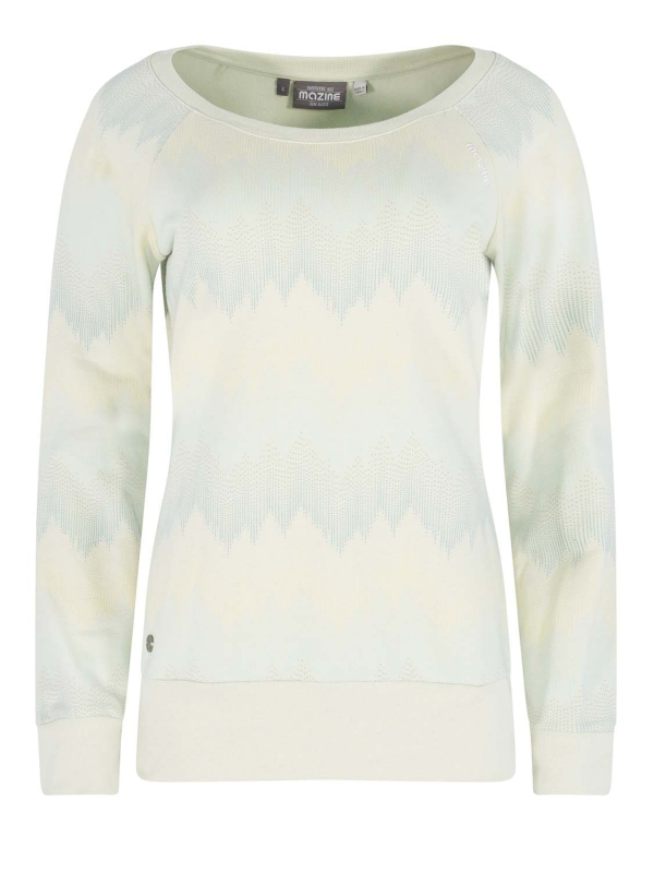 "MAZINE Damen Sweatshirt - ""IRMA Sweater mint / allover"""