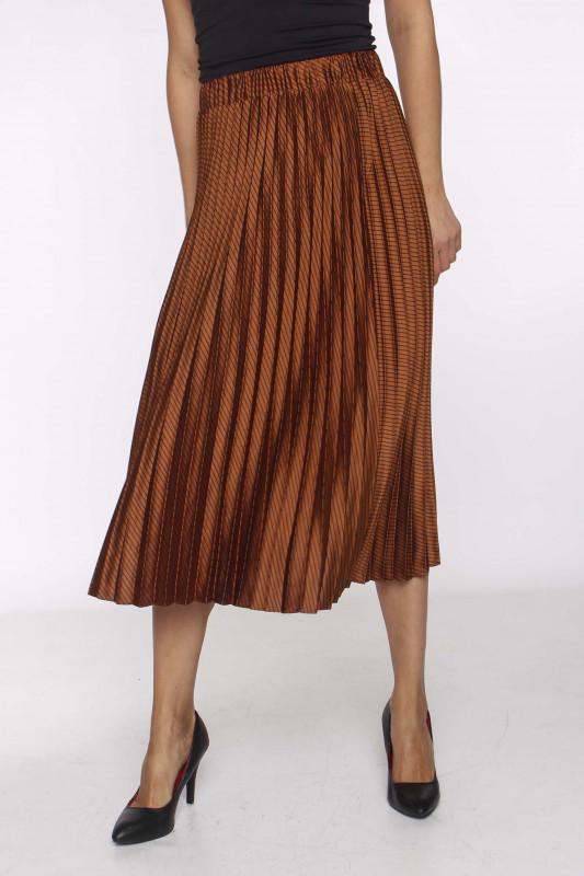 "SCOTCH & SODA Damen Rock - ""Pleated midi skirt combo s"""
