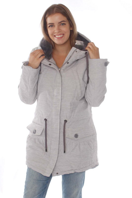 "STRANGE Damen Parka - ""MIRIAM WI light grey melange"""