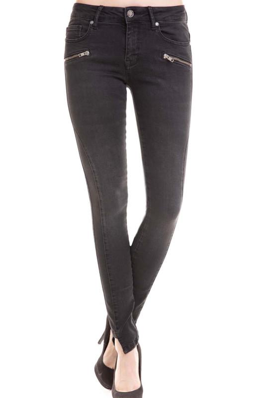 """Zhrill Damen Jeans - """"Daffy Zip Black"""""""