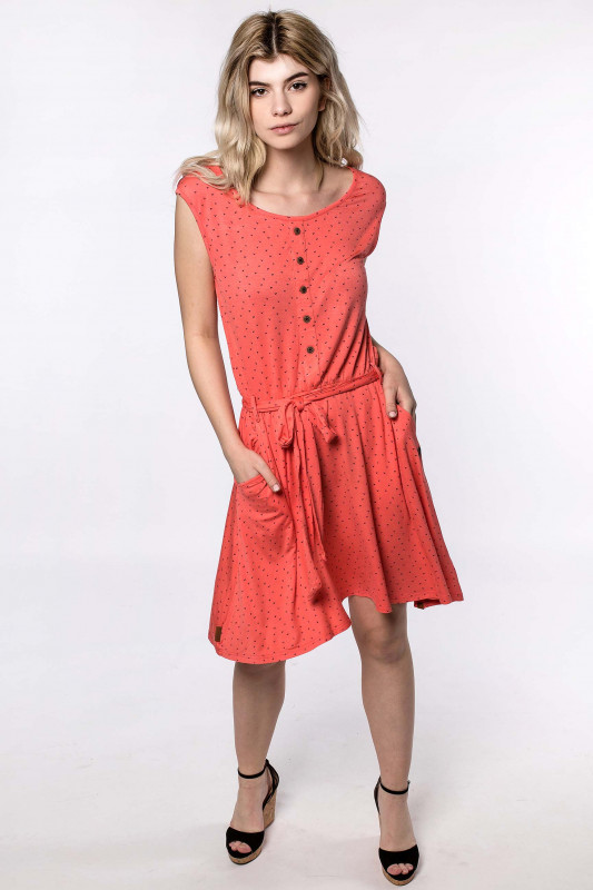 "Alife & Kickin Damen Kleid - ""Scarlett Dress coral"""