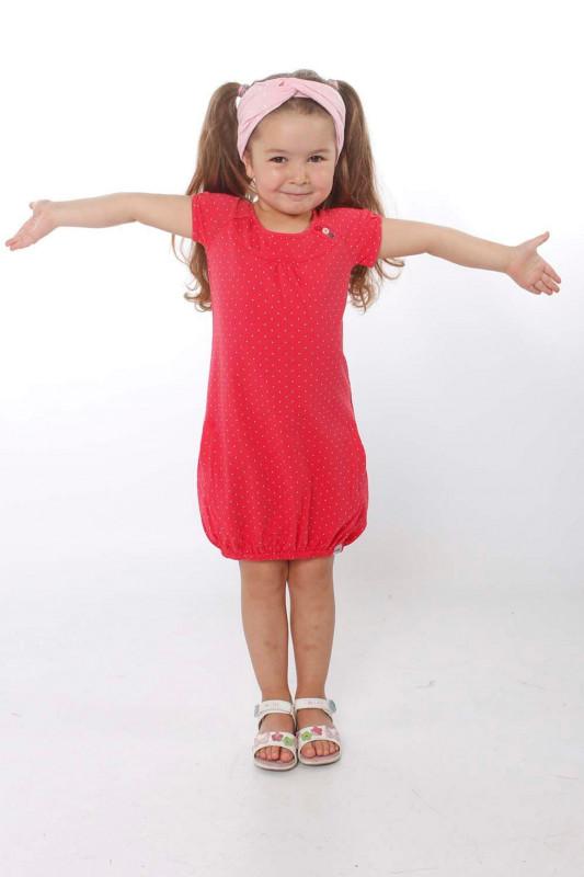 """STRANGE Kinder Kleid - """"Kids SINDY magenta / dots"""""""