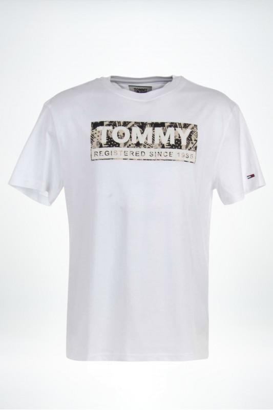 "TOMMY HILFIGER Herren T-Shirt - ""Aop logo Tee white"""
