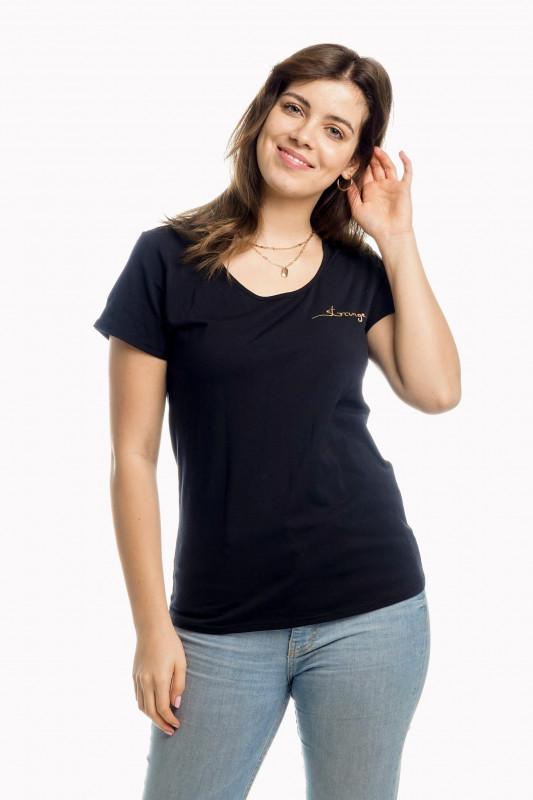 "STRANGE Damen T-Shirt - ""JULIANE black & gold"""