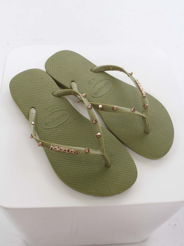 "Havaianas Damen Flip-Flops - ""Slim Hardware camo green"""