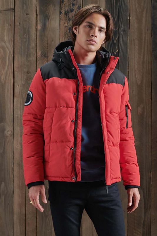 "Superdry Herren Winterjacke - ""Quilted Everest Jacket high risk red"""