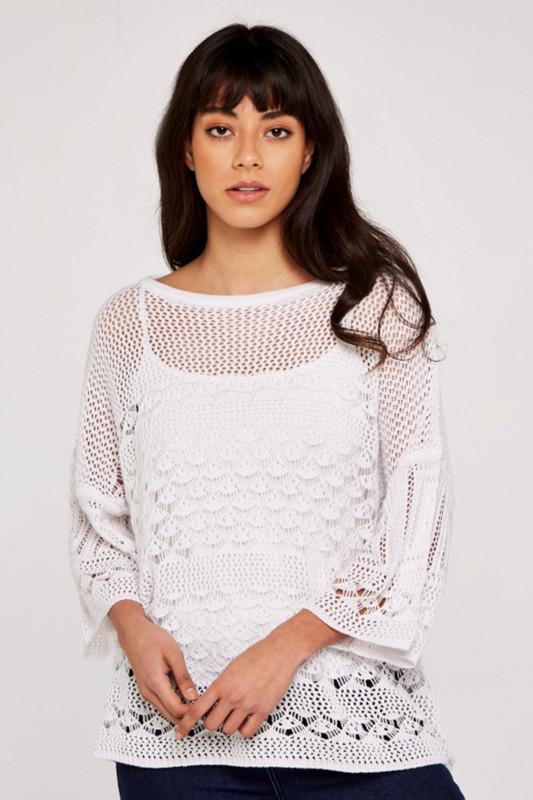 """APRICOT Damen Tunika - """"Crochet"""""""