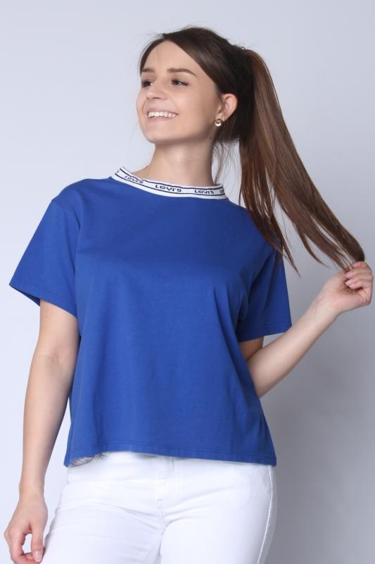 "LEVI'S Damen T-Shirt - ""Varsity Tee surf blue"""