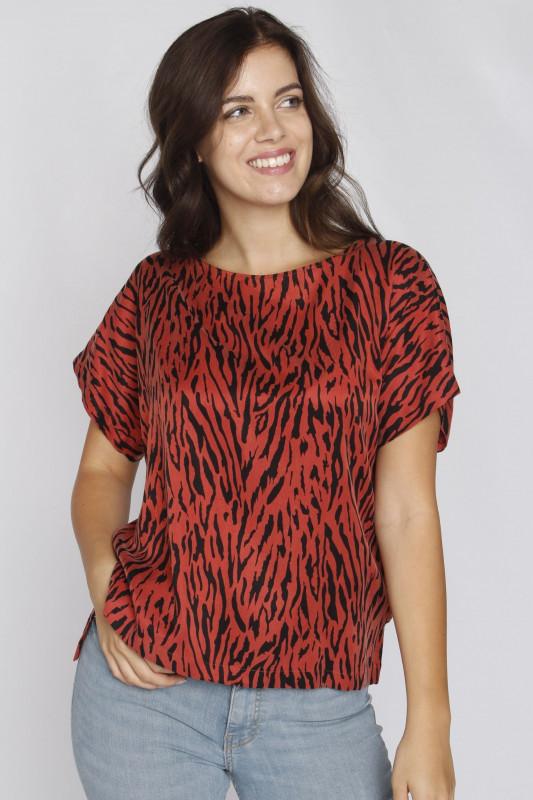 "Drykorn Damen T-Shirt - ""Somia d-bluse animal col. 872"""