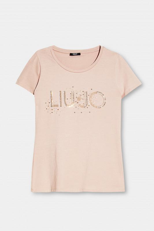 """LIU JO Damen T-Shirt - """"T-Shirt M/C Nue LiuJo studs"""""""
