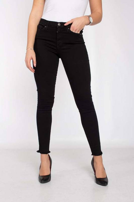 "CUP OF JOE Damen Jeans - ""LINA black fringe"""
