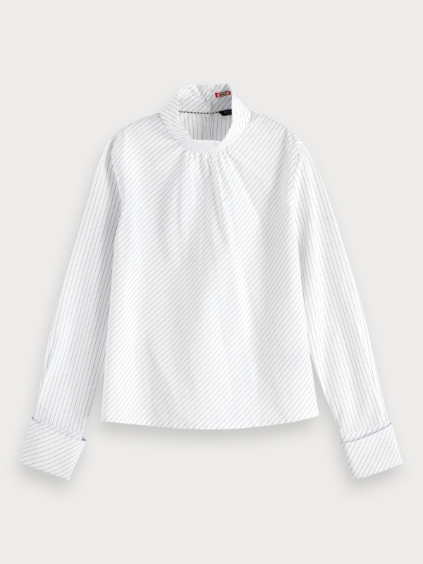 "MAISON & SCOTCH Damen Bluse - ""Shirt inspired Woven Top w. fo"""