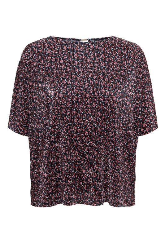 "ONLY Damen T-Shirt - ""Lena S/S plisse top black litt"""