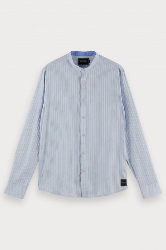 "SCOTCH & SODA Herren Hemd ""Collarless Shirt Org Cotton Co"""