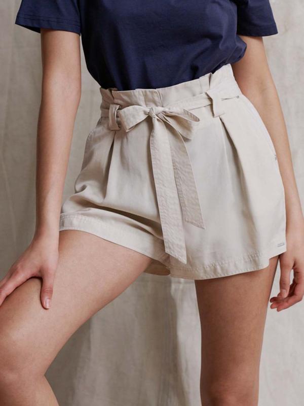 """Superdry Damen Shorts - """"DESERT PAPER BAG SHORTS OAT BR"""""""
