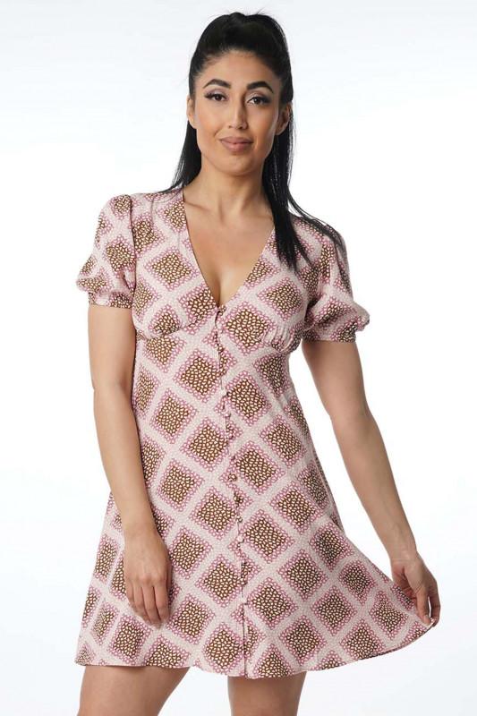 "Samsoe & Samsoe Damen Kleid - ""Petunia dress aop col.10056"""