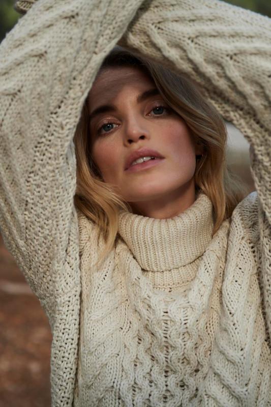 "CIRCLE OF TRUST Damen Pullover - ""Jade knit sand path"""
