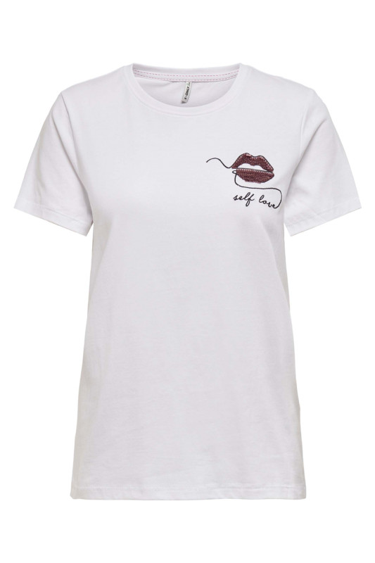 "ONLY Damen T-Shirt - ""Kita life S/S lips top lips br"""