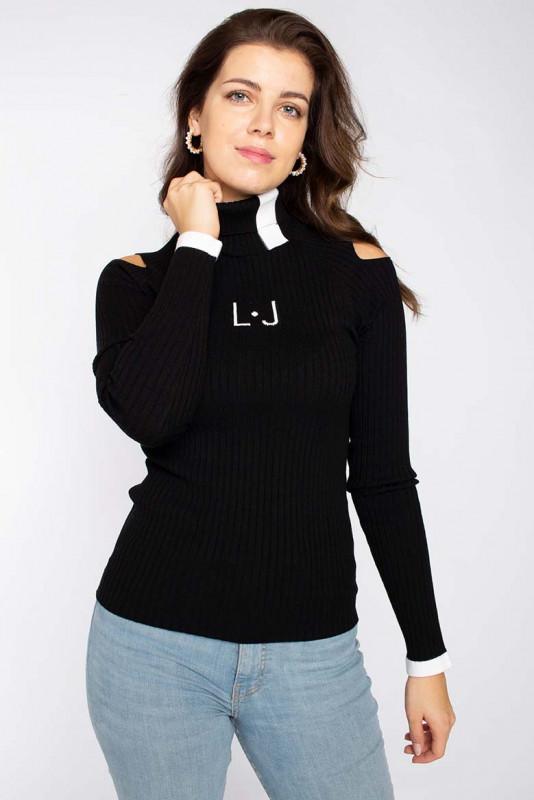 """LIU JO Damen Pullover - """"ECS Maglia Chiusa M/L nero/b"""""""
