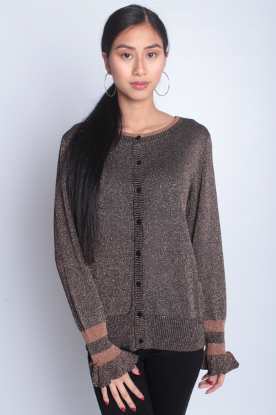 "FREEQUENT Damen Cardigan - ""Mackie Cardigan black with copper"""
