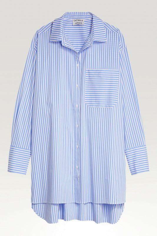 "CATWALK JUNKIE Damen Hemdkleid - ""DR Juniper blue"""