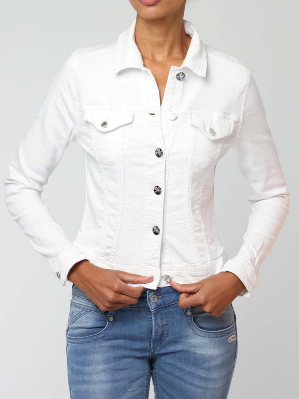 "GANG Damen Jeansjacke -""Mira Jacket White Denim"""