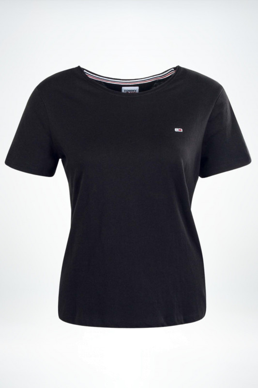 """TOMMY HILFIGER Damen T-Shirt - """"TJW Slim Jersey black"""""""