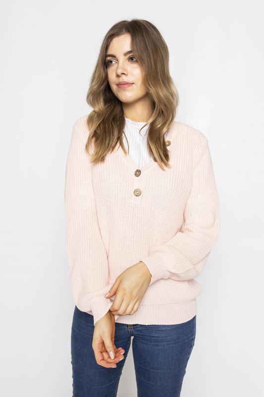 """FREEQUENT Damen Pullover - """"VANILLA PU sustain pink"""""""