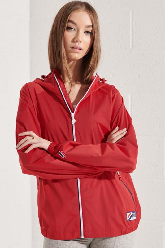 "Superdry Damen Jacke ""Sportstyle Cagoule Jacket varsity red"""