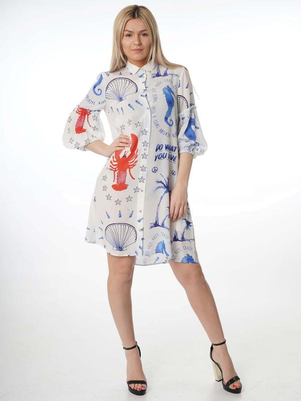 """Grace Damen Kleid - """"Blue sea shirt dress blue"""""""