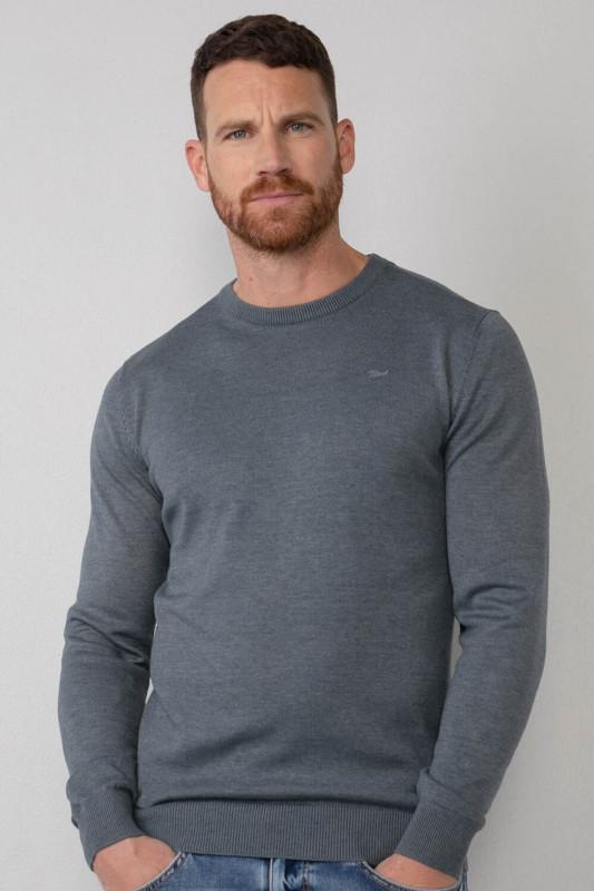 "PETROL Herren Strickpullover - ""Men Knitwear R-Neck Basic dark"""