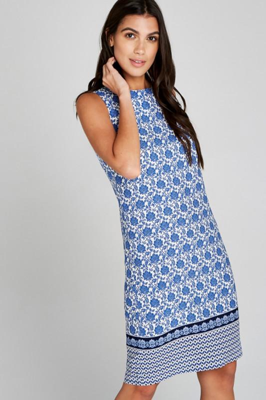 "APRICOT Damen Kleid - ""BLUE FILIGREE WALLPAPER BORDER DRESS"""