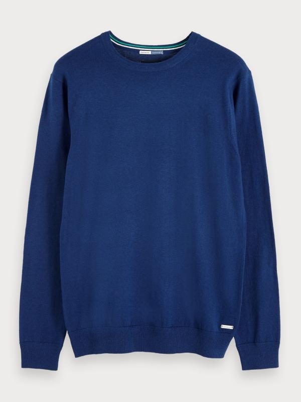 """Scotch & Soda Herren Longsleeve - """"Ams Blauw cotton cashmere crew"""""""