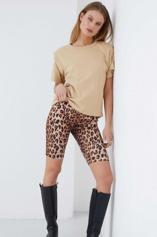 "Catwalk Junkie Damen Short ""SH Wild Leopard brown"""