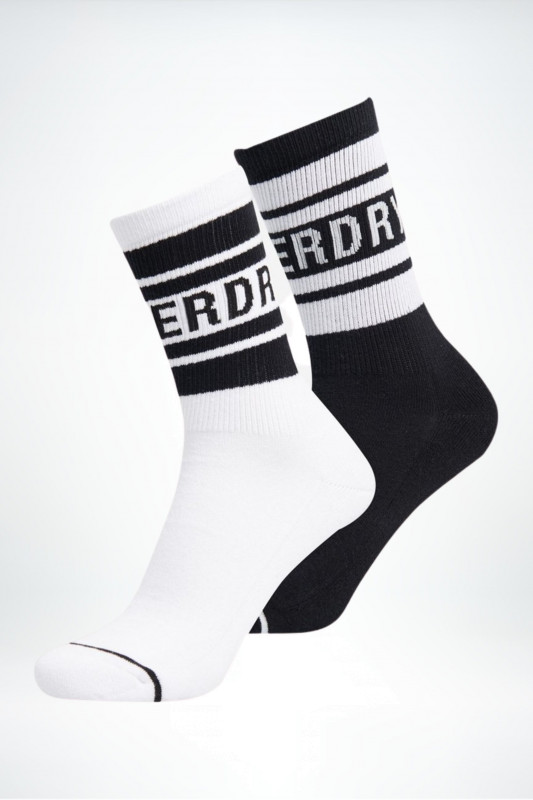 "Superdry Damen Socken - ""NYC Mono Sock 2PK black/white"""