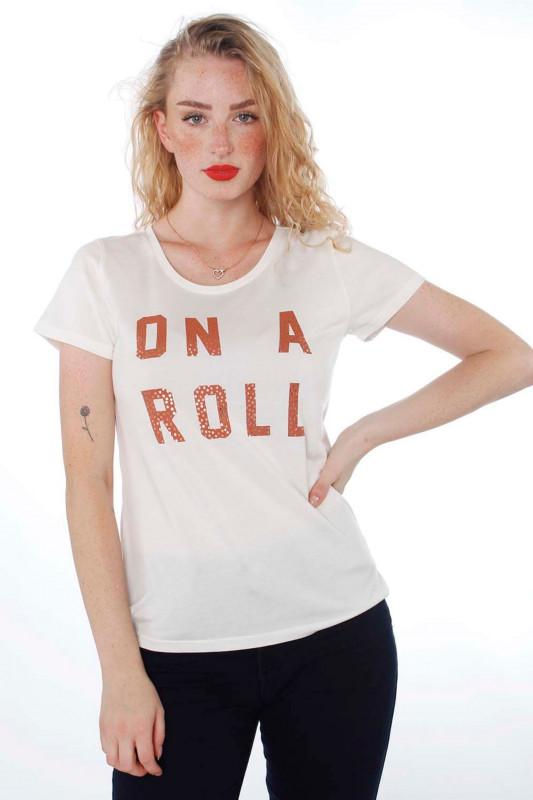 """Catwalk Junkie Damen T-Shirt - """"TS Roller off white"""""""