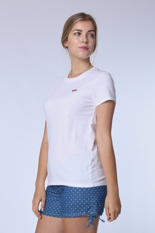 "LEVI'S Damen T-Shirt - ""Perfect Tee White cn 100 xx"""