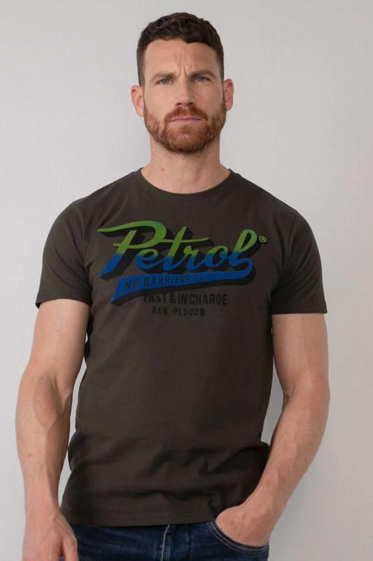"""PETROL Herren T-Shirt - """"Men T-Shirt SS R-Neck forest"""""""