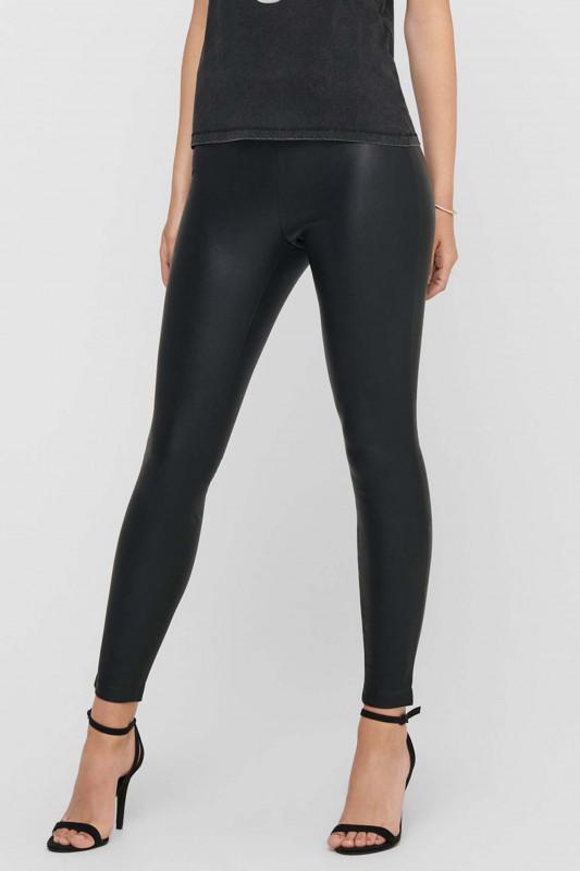 "ONLY Damen Leggings - ""Rachel faux leather legging bl"""