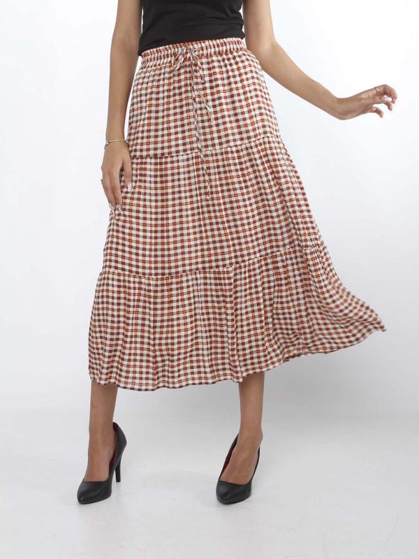 """MINUS Damen Rock - """"MAISA Skirt red checks"""""""