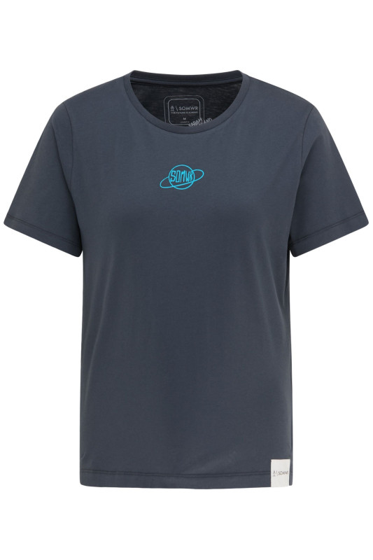 "\SOMWR Damen T-Shirt - ""The Planets here blue W-TS-09"""