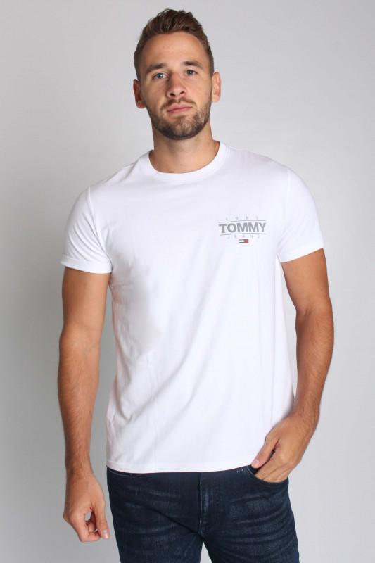 """TOMMY HILFIGER Herren T-Shirt - """"TJM SLIM STRETCH METALLIC TEE WHITE"""""""