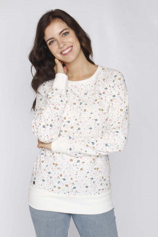 "Mazine Damen Sweatshirt - ""Tanami Sweater offwhite/printed"""