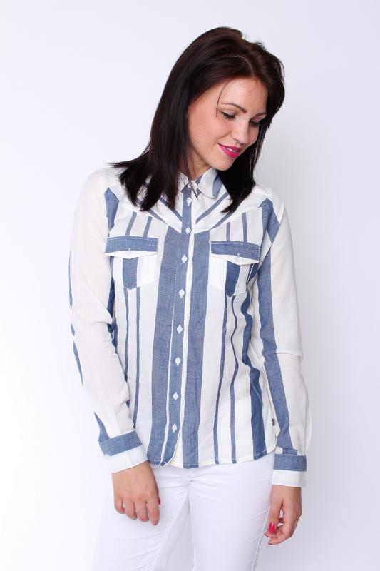 """STRANGE Damen Bluse """"Odelia white / navy stripe"""""""