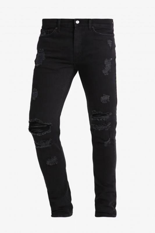 "Tigha Herren Jeans - ""Morten vintage black ripped"""