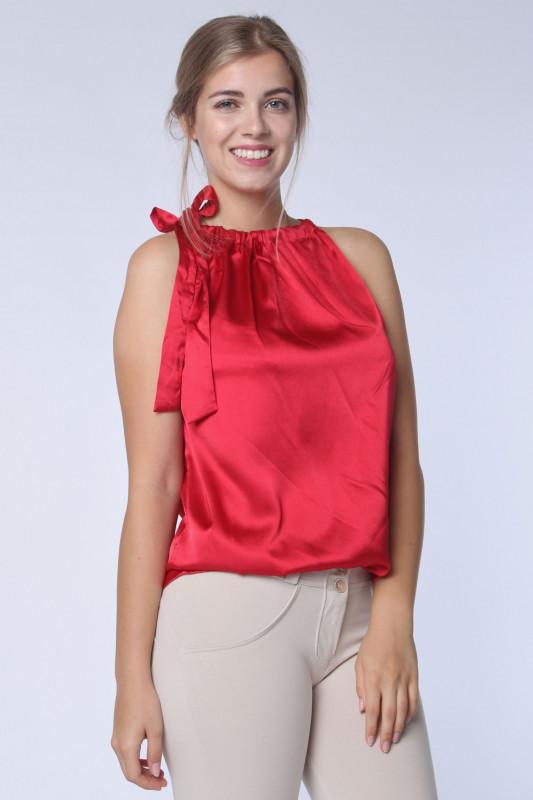 """STRANGE Damen Top - """"ROSA gloss red"""""""