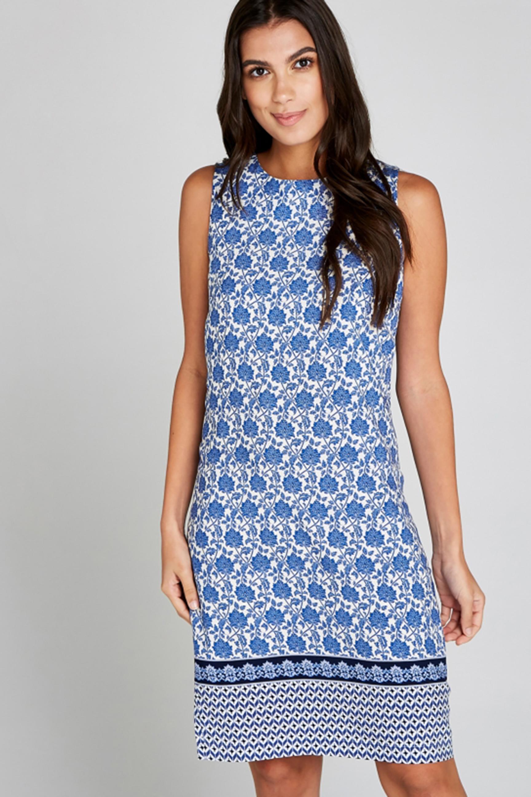 Apricot Damen Kleid Blue Filigree Wallpaper Border Dress Tayler Fashion