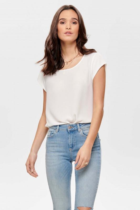 """ONLY Damen T-Shirt - """"Vic ss solid top cloud dancer"""""""