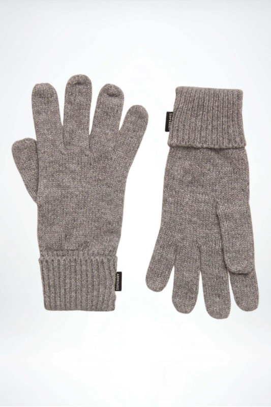 """Superdry Damen Handschuhe - """"Heritage Ribbed Gloves light grey marl"""""""